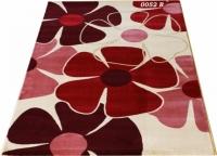 Машинен гладък килим в бордо