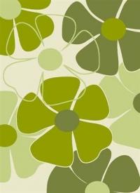 Гладки машинни килими в зелено