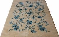 Машинен гладък килим на сини цветя