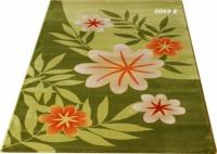 Гладки машинни килими 80х150см зелен цвят