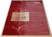 Гладък машинен килим в бордо
