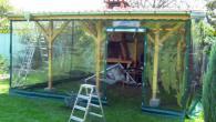 Градински ветрозащитни завеси