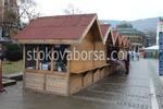 Дървена търговска сергия