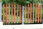 лакирани решетъчни дървени огради