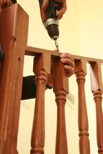 дървени парапети за тераса - монтаж