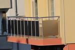 парапет за тераса от инокс и черно стъкло