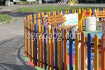изработка на дървени огради за детска площадка