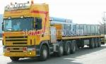 Превоз на извънгабаритни товари с ТИР Scania