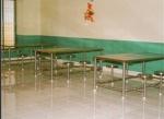 иноксова маса със столове