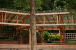 навес от дърво и поликарбонат