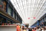 изработка на поликарбонатен навес за търговски център