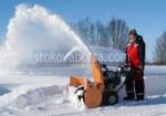 Почистване от сняг със снегопочистваща машина