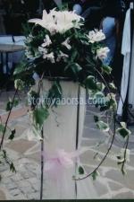 украса на тържества с естествени цветя