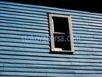 синя винилова облицовка