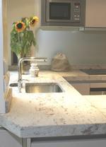 облицоване с мрамор на кухненски плот