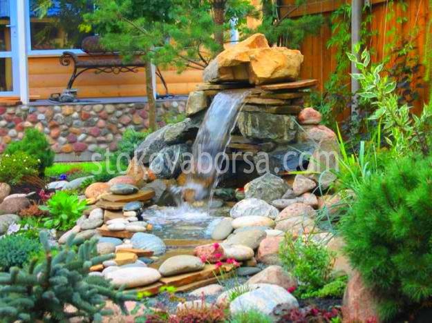 Домашний водопад в саду своими руками