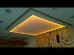 окачен таван от гипсокартон с лед осветление