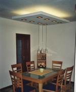 окачен таван от гипсокартон с LED лунички