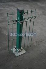 метални коловеза за огради с метални пана