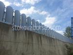 огради от метал на зидана основа по поръчка