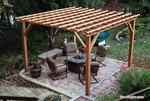 дървена пергола за градината - изграждане и монтаж