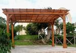 дървени перголи за градината