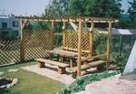производство на дървени перголи за градината