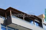 Дървен навес за балкон по поръчка