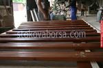 изработка на дървени пана за огради боядисани с боя по RAL каталог