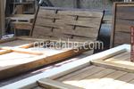 изработка на дървена ограда с пана от чам 200x100см