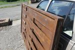 дървена ограда от дървено пано 200x100см.