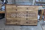 дървени огради по поръчка от дървени пана 200x100см.