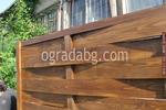 огради от дървени пана 200x70см