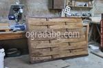 дървена ограда от дървено пано 200x70см.