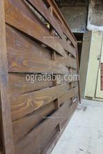 дървена ограда по поръчка от дървено пано 200x70см.