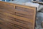 изграждане на дървени огради от чам с дървени пана 200x110см