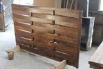 дървени огради от чам с оградни пана 200x110см