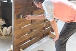 огради от дървени пана 200x150см