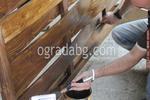 оградно пано от чам с размер 200x80см