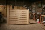 дървени огради от оградни пана без лак