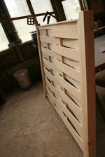 дървени огради от чам без лак