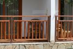 дъбов дървен парапет за тераса