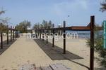 дървен навес за плаж по поръчка
